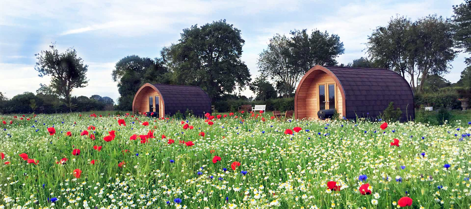 Glamping Pods at Bradley Hall Rural Escapes - Luxurious Glamping Pods on a working farm in Cheshire